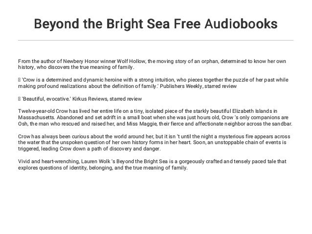 Beyond The Bright Sea Free Audiobooks