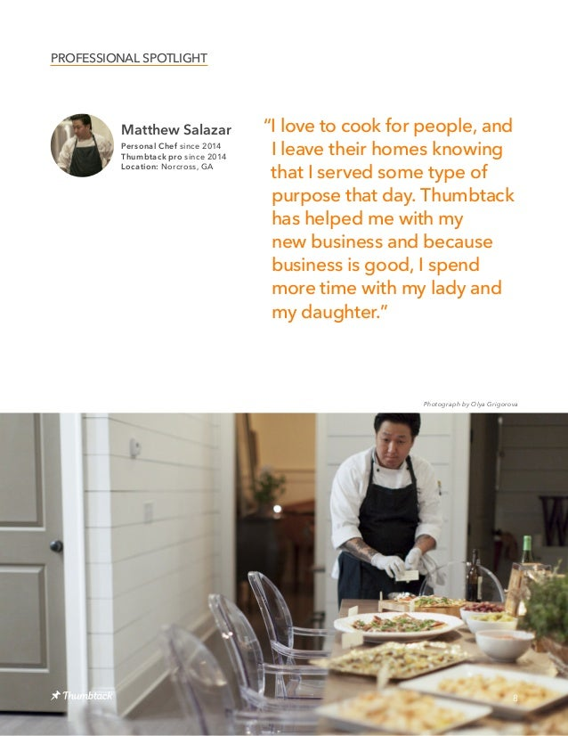 """Matthew Salazar Personal Chef since 2014 Thumbtack pro since 2014 Location: Norcross, GA 8 """"I love to cook for people, and..."""