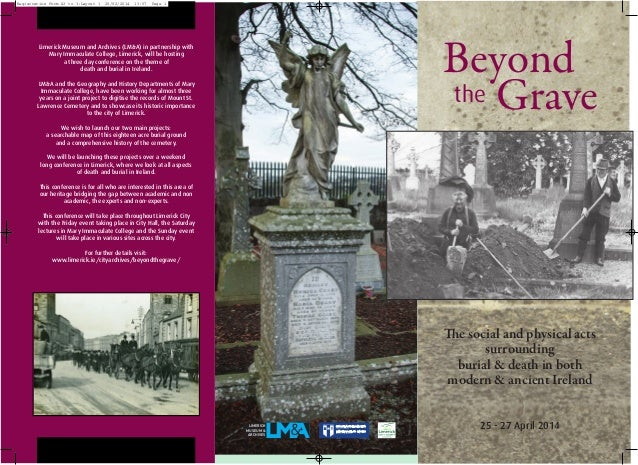 Registration Form A3 to 3:Layout 1  20/02/2014  13:57  Page 1  Beyond the Grave  Limerick Museum and Archives (LM&A) in pa...