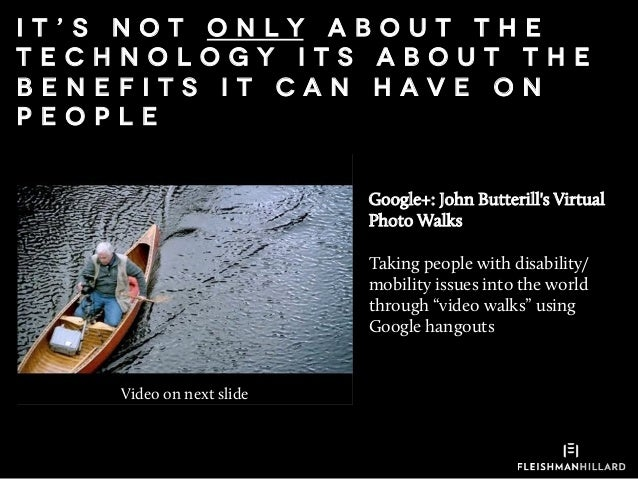"""Google+: John Butterill's Virtual Photo Walks Taking people with disability/ mobility issues into the world through """"video..."""