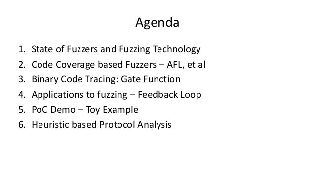 BSides LV 2016 - Beyond the tip of the iceberg - fuzzing binary protocols for deeper code coverage Slide 3