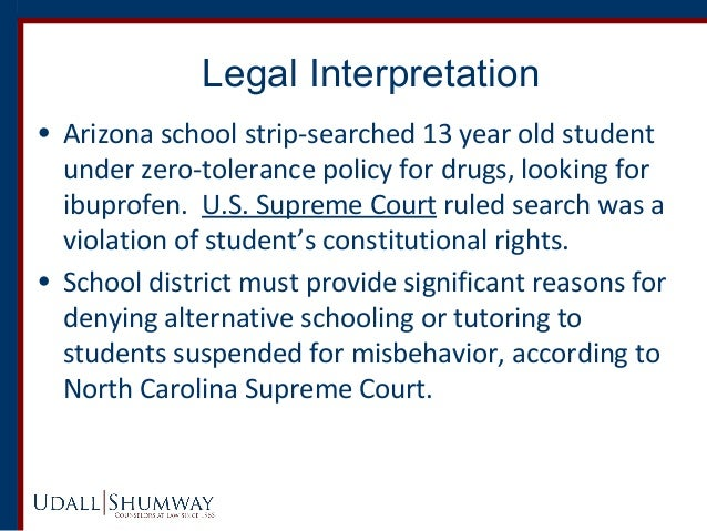 """zero tolerance policy in school districts The phenomenon of students ending up in jail, not classrooms, which s known as the """"school to prison pipeline,"""" is the result of harsh """"zero tolerance"""" school discipline policies, which mandate tough penalties for students accused of a variety of infractions, some of them relatively benign."""
