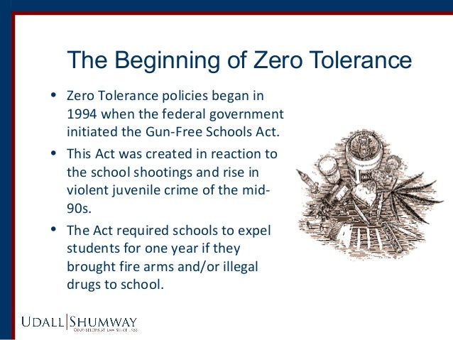 Zero tolerance policies in american schools essay
