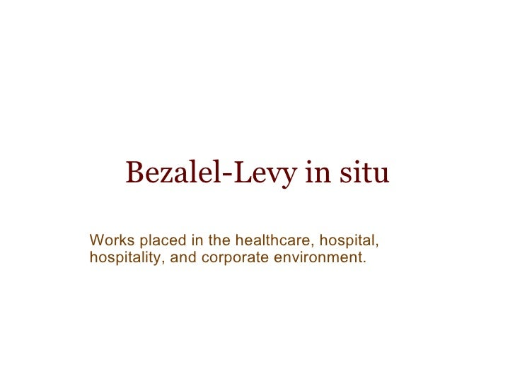 Bezalel-Levy in situ Works placed in the healthcare, hospital, hospitality, and corporate environment.