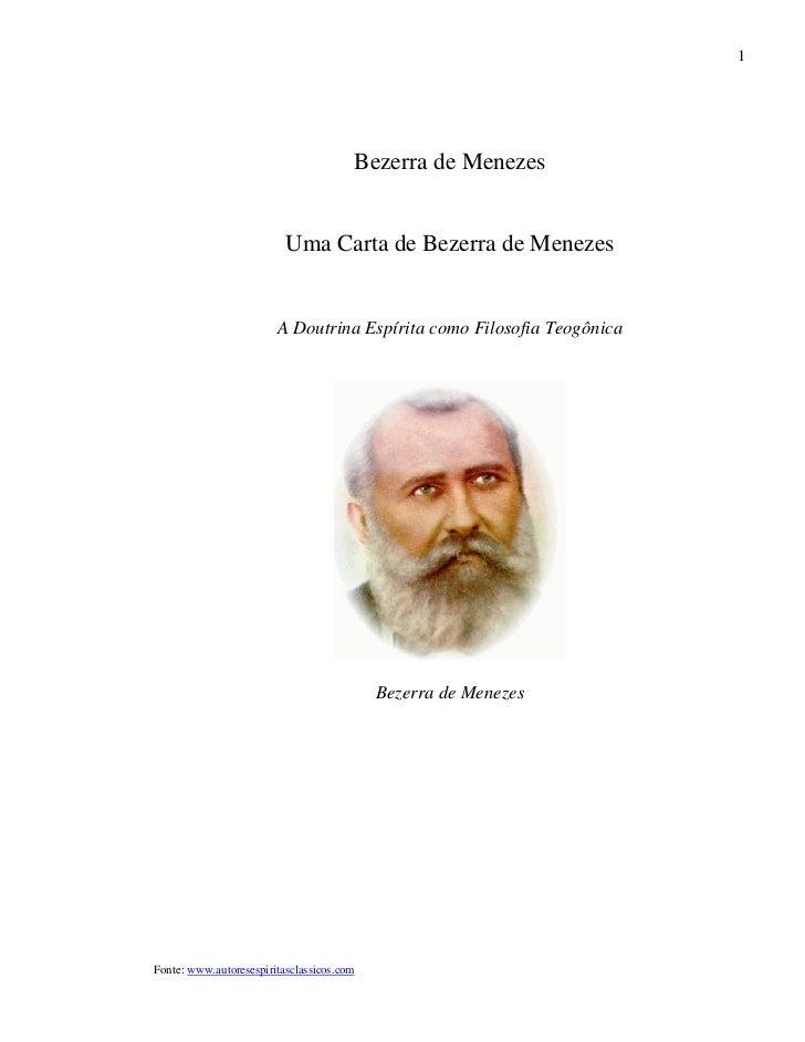 1                                       Bezerra de Menezes                          Uma Carta de Bezerra de Menezes       ...
