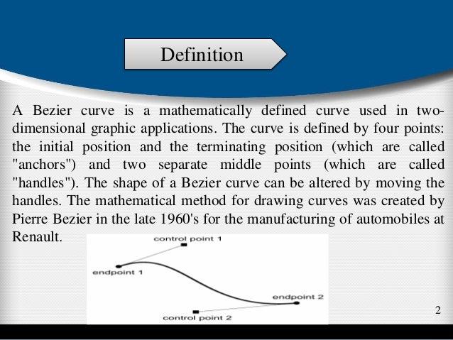Bezier curve computer graphics