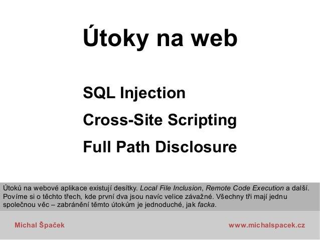 Bezpečnostní útoky na webové aplikace, Čtvrtkon 5 Slide 2