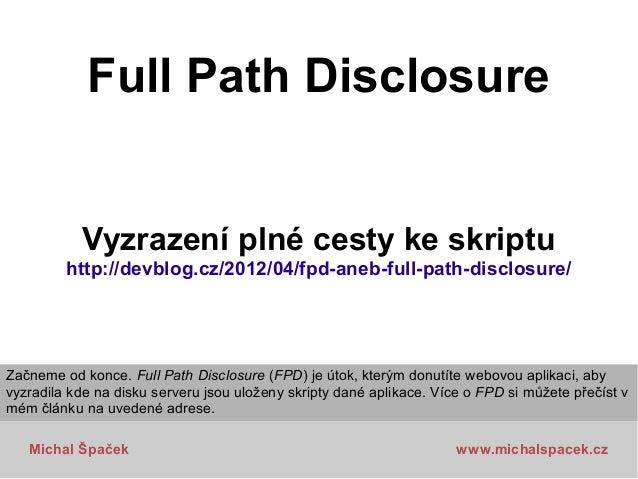 Bezpečnostní útoky na webové aplikace, Čtvrtkon 5 Slide 3