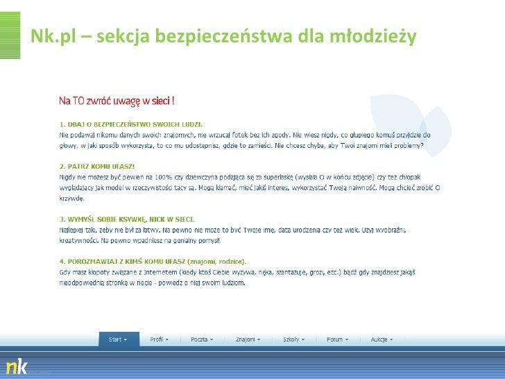 Nk.pl – sekcja bezpieczeństwa dla młodzieży