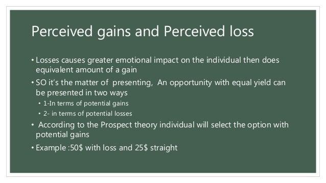 prospect theory example
