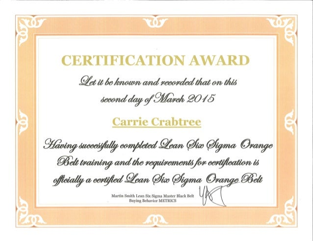 Lss Certification 2015