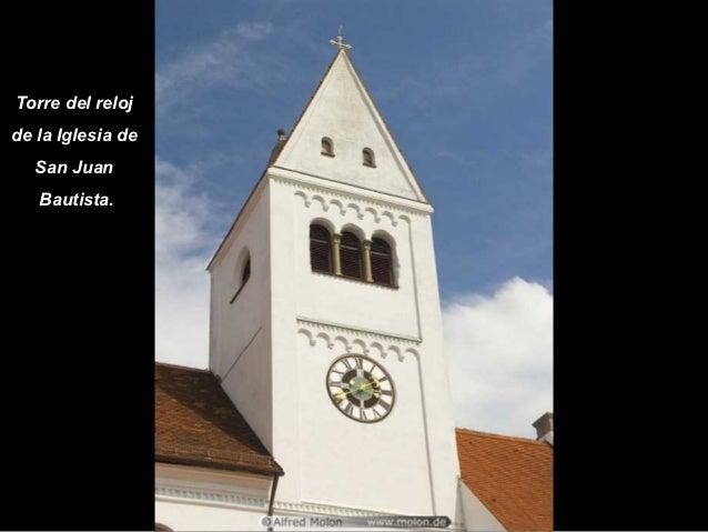 Torre del relojde la Iglesia de   San Juan   Bautista.