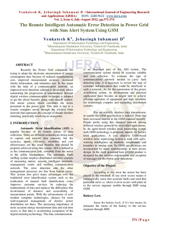 V e n k a t e s h K , J e b a s i n g h I n b a m a n i D / International Journal of Engineering Research                 ...