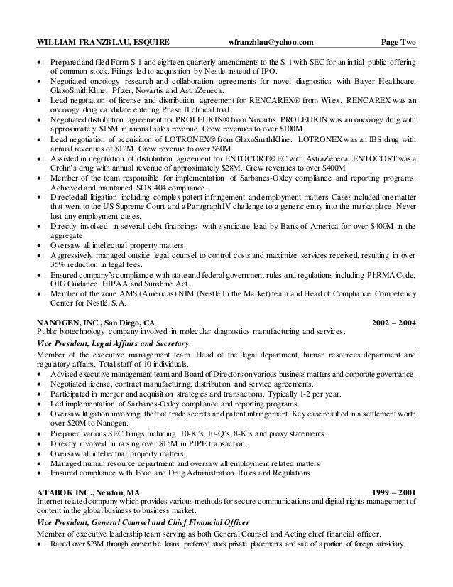 SlideShare  General Counsel Resume