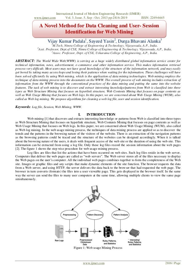 www.ijmer.com  International Journal of Modern Engineering Research (IJMER) Vol. 3, Issue. 5, Sep - Oct. 2013 pp-2816-2819...