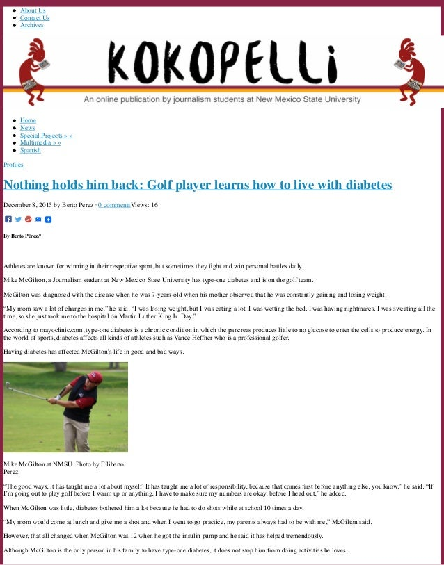 About Us Contact Us Archives Home News Special Projects » » Multimedia » » Spanish Profiles Nothing holds him back: Golf pl...