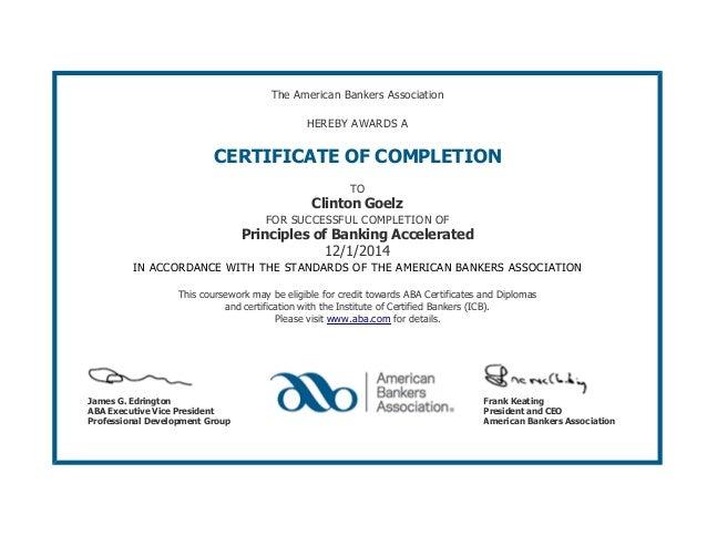 Aba Certificate