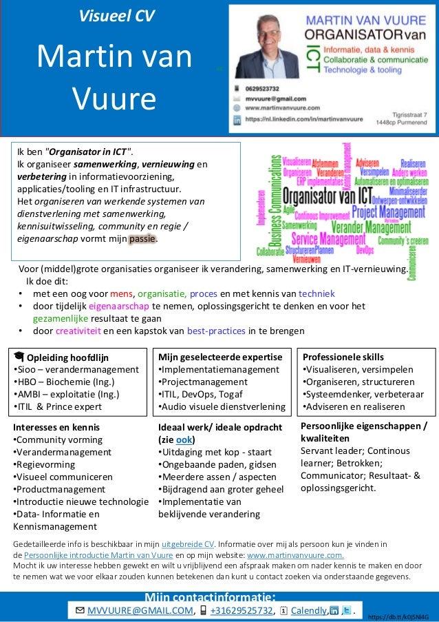 """GC Martin van Vuure Ik ben """"Organisator in ICT"""". Ik organiseer samenwerking, vernieuwing en verbetering in informatievoorz..."""