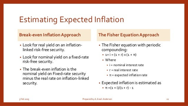 essel anderson 21 22 estimating expected inflation
