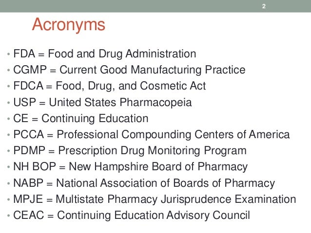 Board of Pharmacy Updates