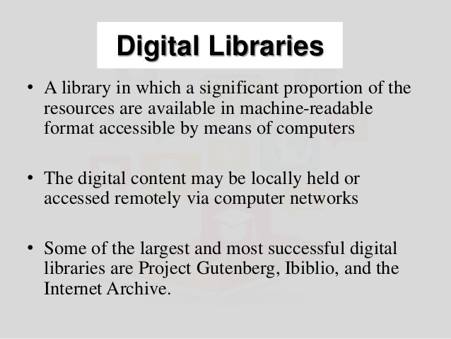 Creation of Digital Libraries using Open Source Software Slide 2
