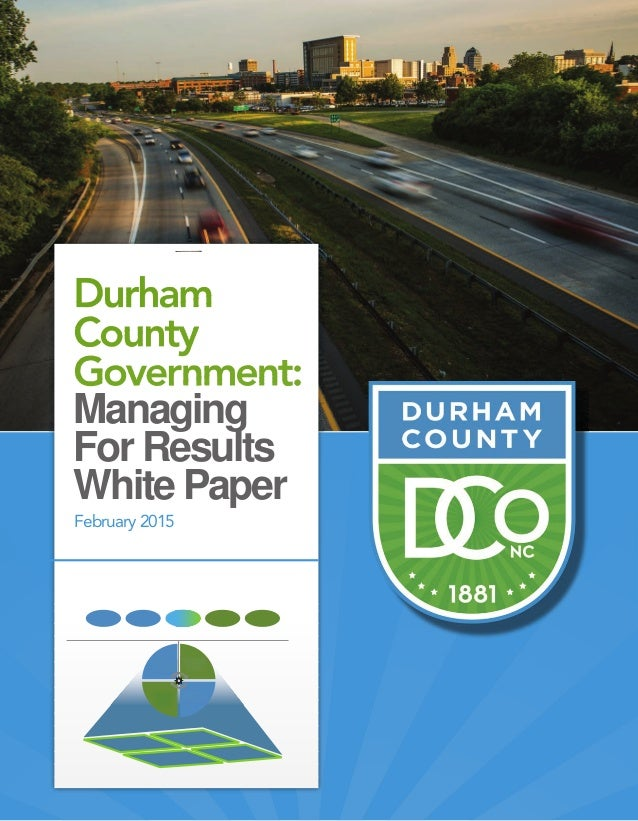 Managing For Results White Paper February 2015