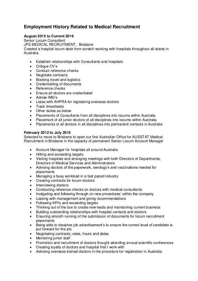 education history table resume work experience orderresume work – Employment History Template