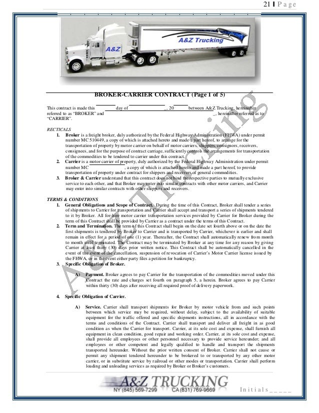 Carrier packet for carriers v6 t for Who is subject to federal motor carrier safety regulations