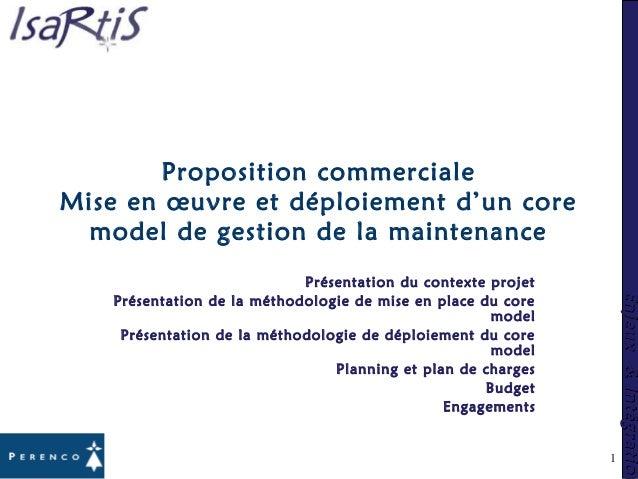 Enjeux&IntégrationEnjeux&Intégration 1 Proposition commerciale Mise en œuvre et déploiement d'un core model de gestion de ...