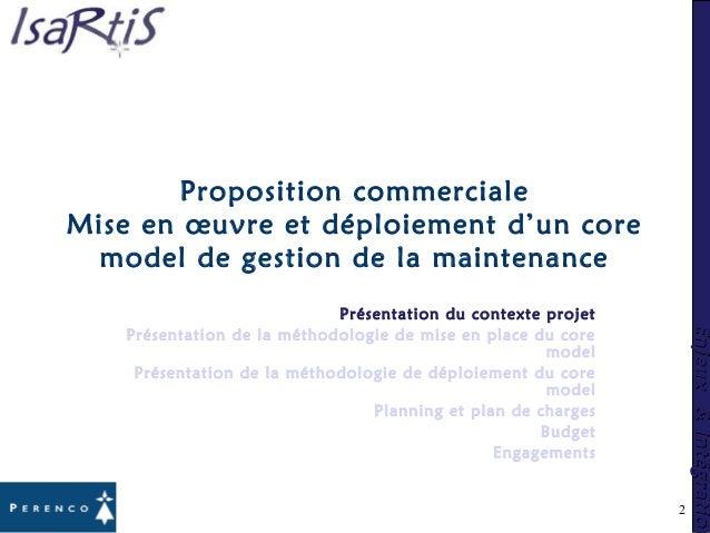 Enjeux&IntégrationEnjeux&Intégration 2 Proposition commerciale Mise en œuvre et déploiement d'un core model de gestion de ...