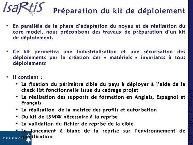 Enjeux&IntégrationEnjeux&Intégration Préparation du kit de déploiement • En paralléle de la phase d'adaptation du noyau et...