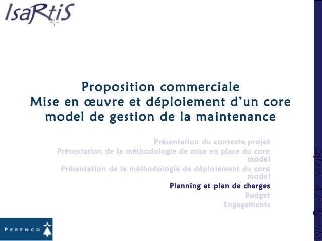 Enjeux&IntégrationEnjeux&Intégration Proposition commerciale Mise en œuvre et déploiement d'un core model de gestion de la...