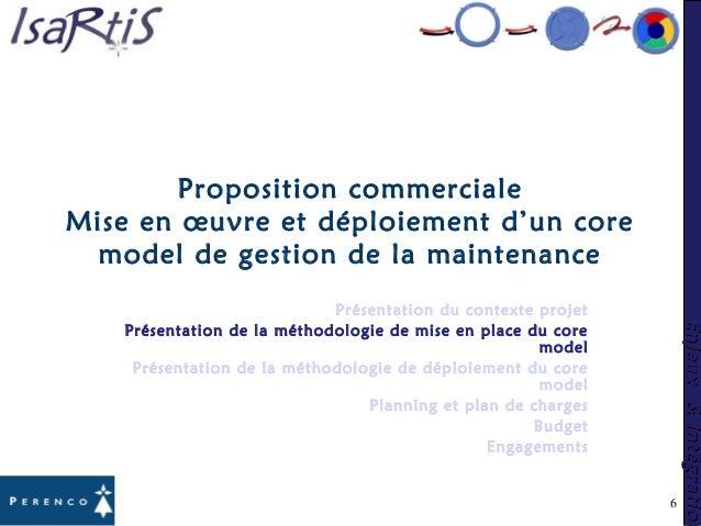 Enjeux&IntégrationEnjeux&Intégration 6 Proposition commerciale Mise en œuvre et déploiement d'un core model de gestion de ...