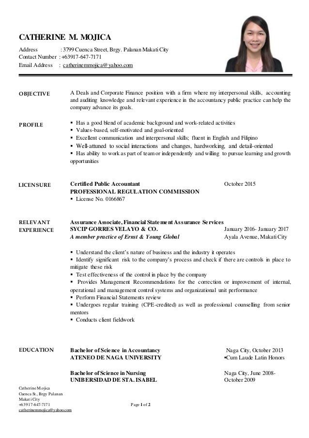 Resume (Catherine M. Mojica)