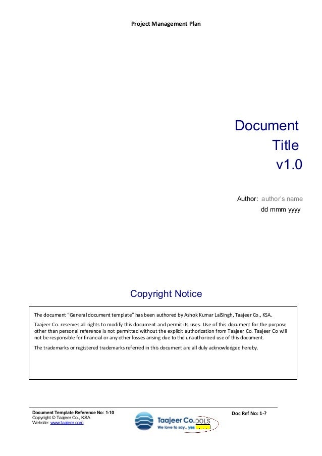 document management policy template - project management plan template