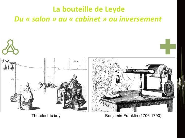 La bouteille de Leyde Du «salon» au «cabinet» ou inversement  The electric boy Benjamin Franklin (1706-1790)