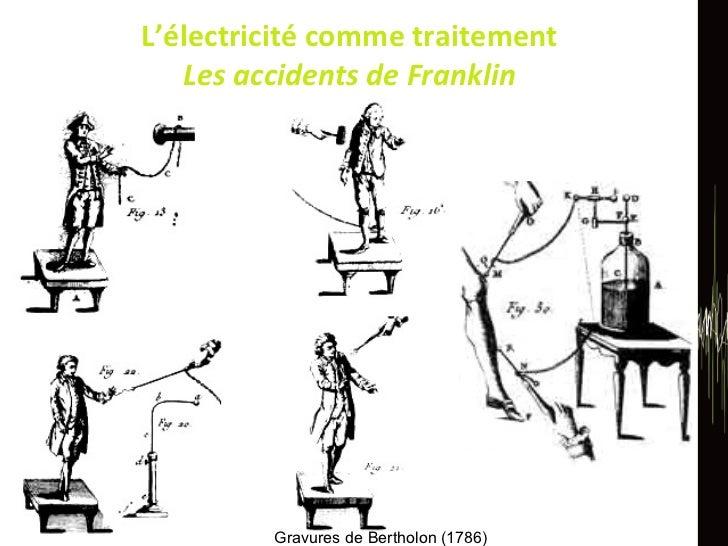 L'électricité comme traitement Les accidents de Franklin Gravures de Bertholon (1786)