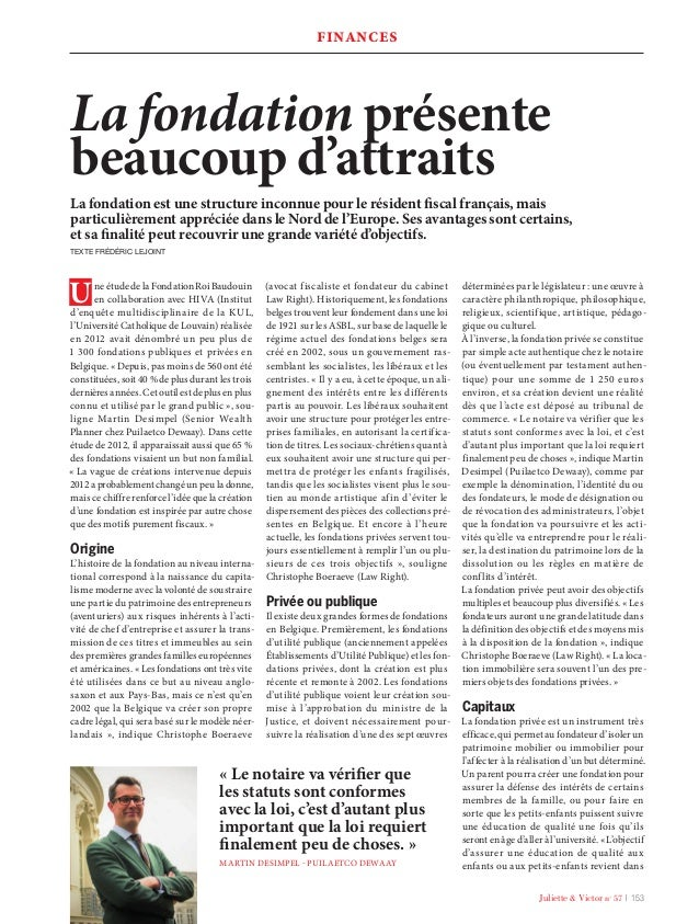 Juliette & Victor n° 57 l 153 Une étude de la Fondation Roi Baudouin en collaboration avec HIVA (Institut d'enquête multid...