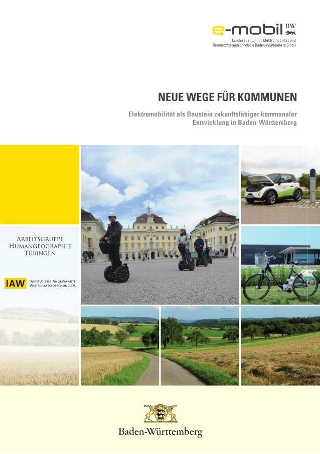 1 VORWORT Baden-Württemberg hat als Automobilland besondere Gestaltungsmöglichkeiten, die auch Verantwortung bedeuten. Ang...
