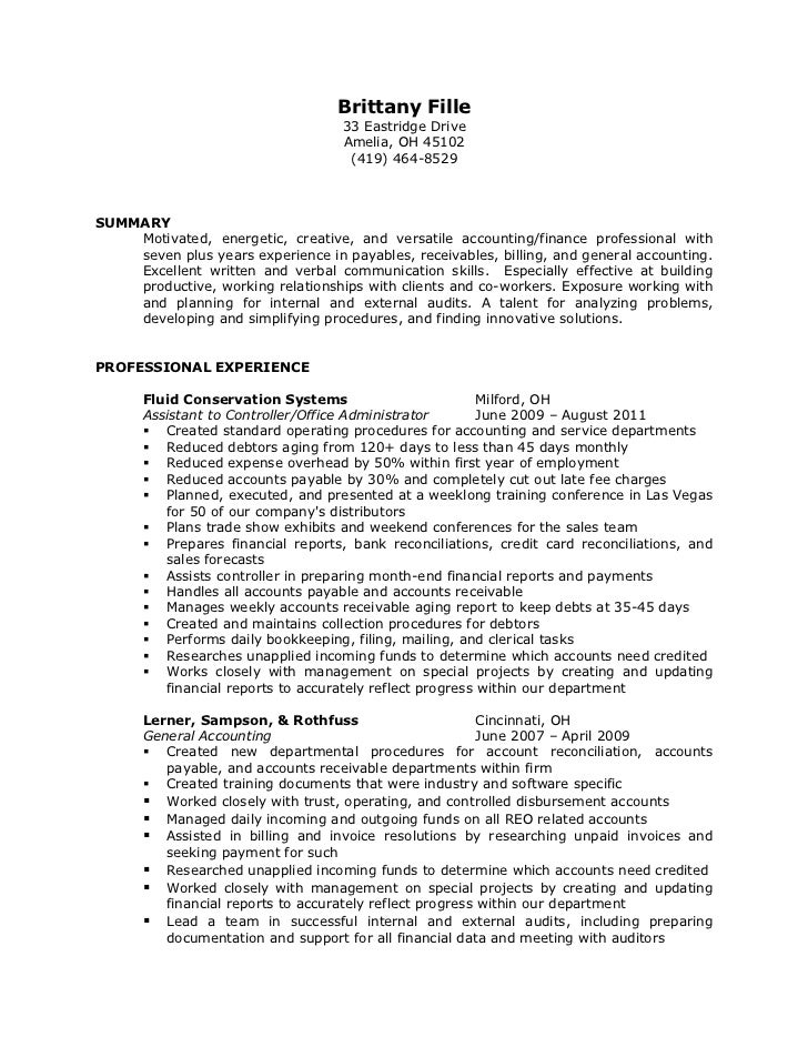 brittany fille resume