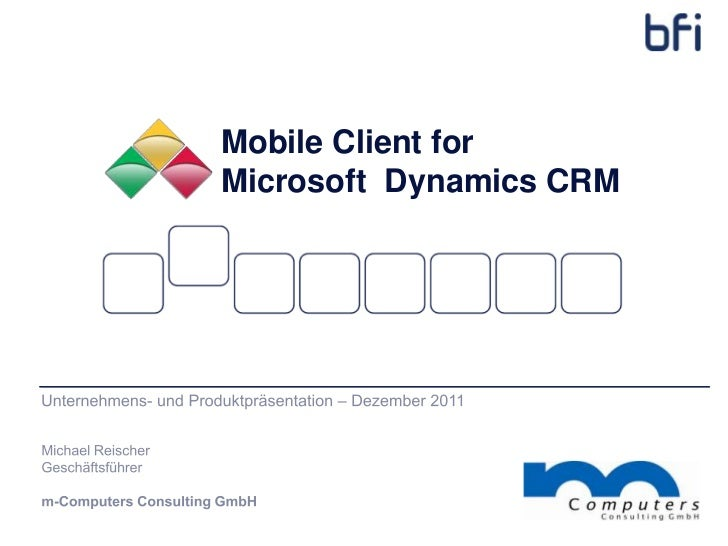 Mobile Client forMicrosoft Dynamics CRM