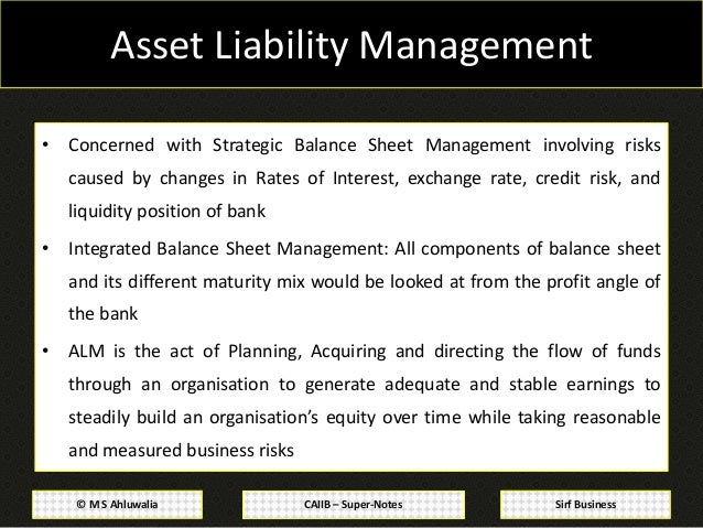 CAIIB Super Notes Bank Financial Management Module D Balance Sheet
