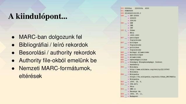 A MARC-tól a BIBFRAME-ig Slide 2