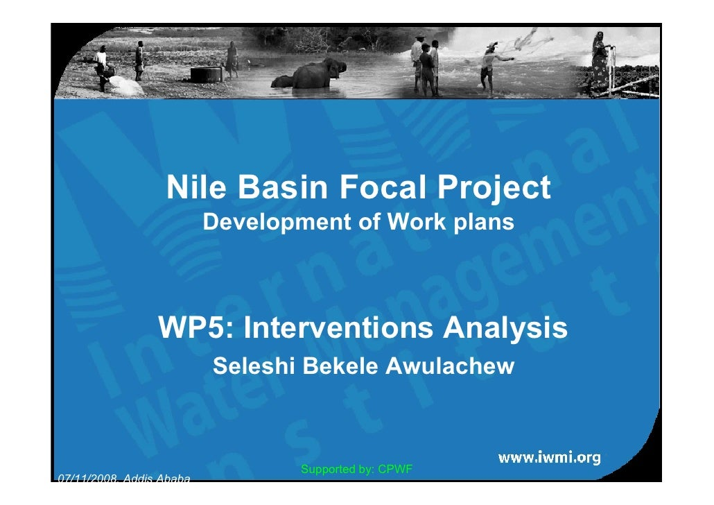 Nile Basin Focal Project                           Development of Work plans                     WP5: Interventions Analys...