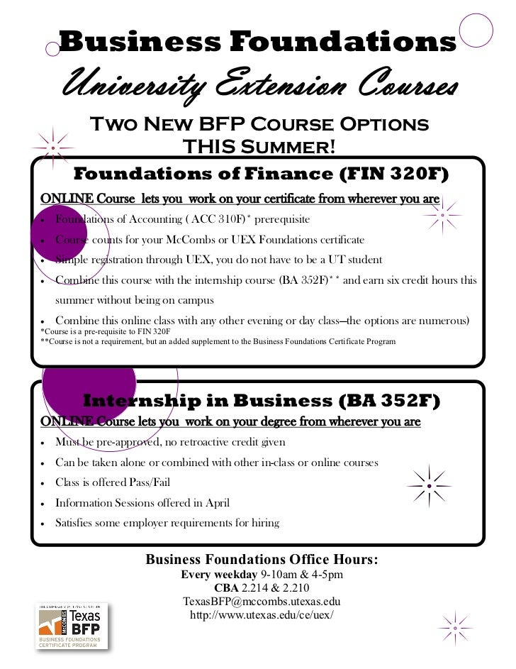 Bfp 2012 new courses