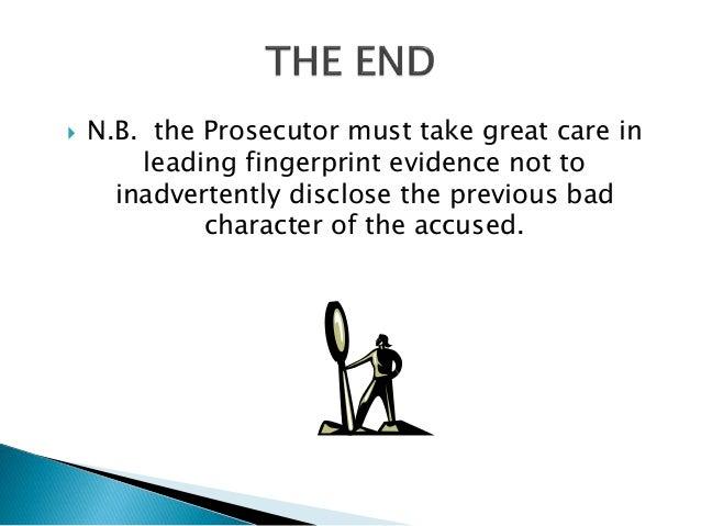 Leading Fingerprint Evidence In Trinidad And Tobago