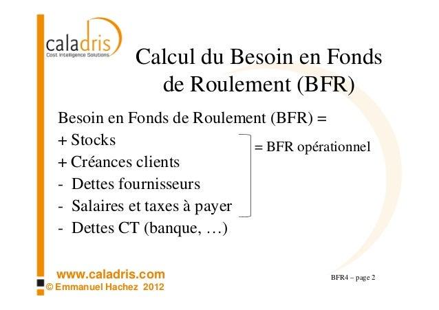 Bfr4 evaluer l augmentation du bfr d une activit qui se d veloppe b - Fonds de roulement copropriete ...