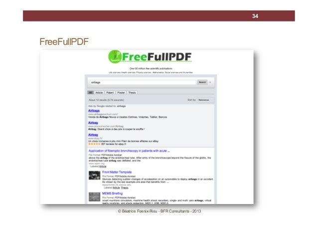 34  FreeFullPDF  © Béatrice Foenix-Riou - BFR Consultants - 2013