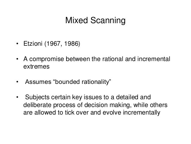 mixed scanning decision making model