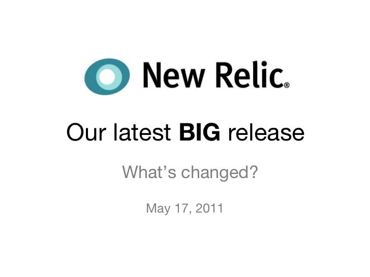 Our latest  BIG  release What's changed? May 17, 2011